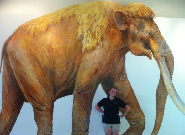 Kim with the mammoth