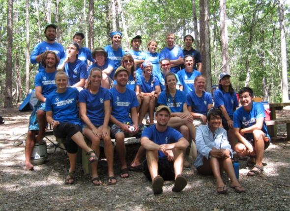 Leave No Trace training in Arkansas! Group photo!
