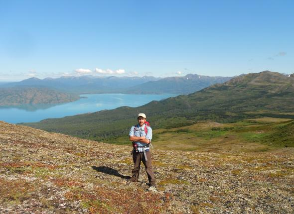 Mike above Skilak Lake at Kenai NWR