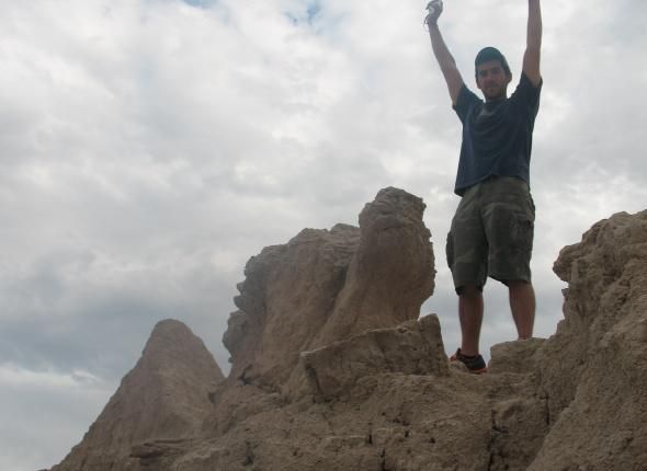 Mike in the Badlands