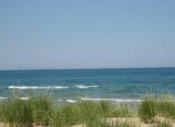 View of Lake Michigan from Miller Beach