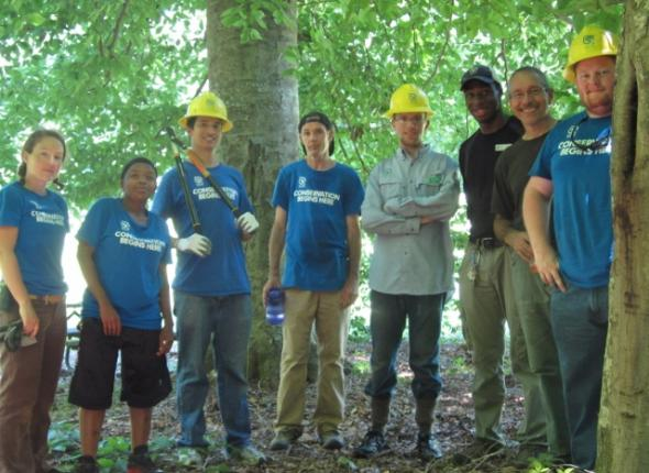 Donovan Slough trail restoration at the Natchez Trace Parkway!