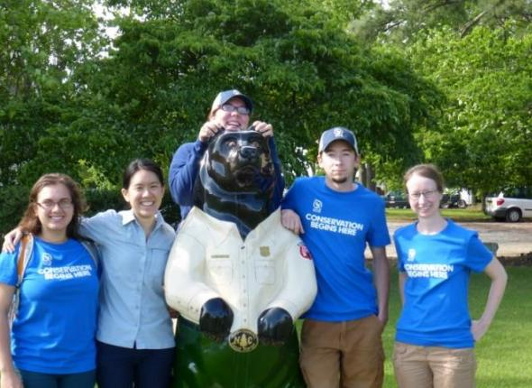 The CWPP team with Wilbur, one of the New Bern bears