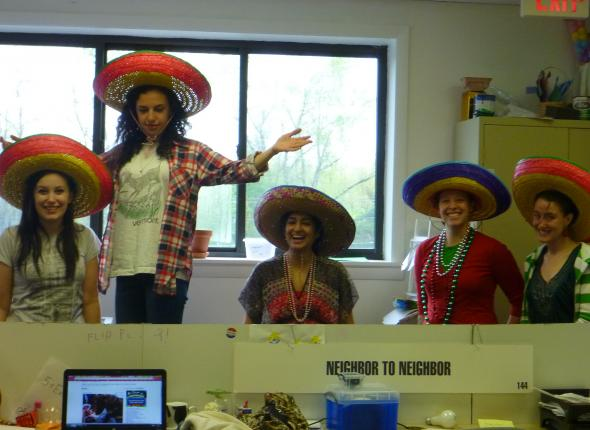 Stacy, Jenna (King of all Sombreros), Bijal (she's the one who lost her beejees), Kayla & Chamae