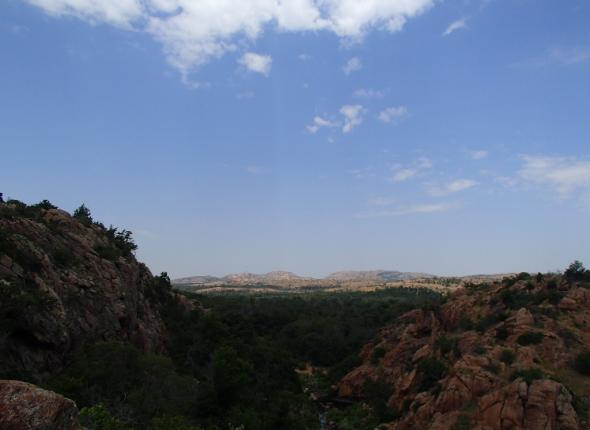 A grand view of the Wichita Mountains National Wildlife Refuge.