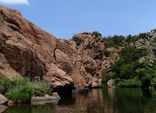 At the Wichita Mountains National Wildlife Refuge