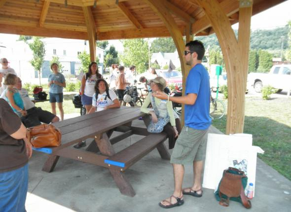 Joe presenting at the Ohiopyle Clean  Water Camp