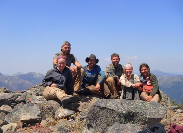 Crew on the top of Rattlesnake
