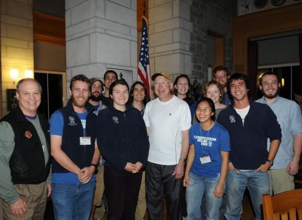 The team with Nathan Caldwell and Ken Salazar