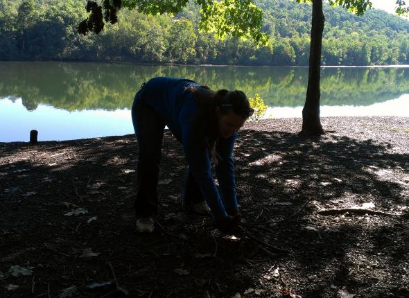 Cleaning up along the Greene River Trail