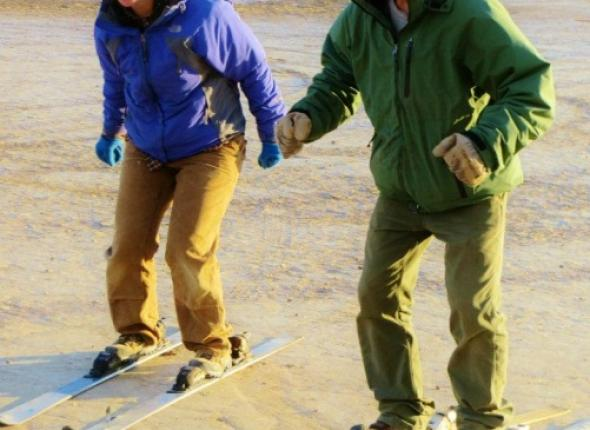 Skiing lessons with some of our desert treasures