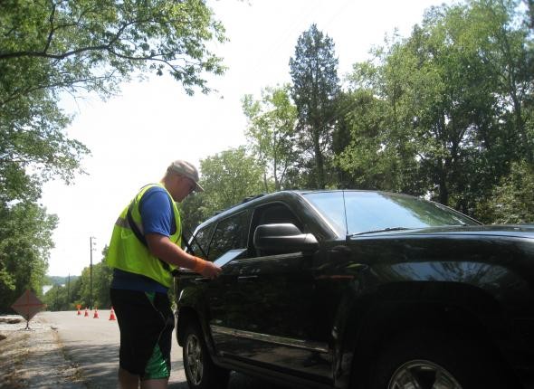 There it is! Tyler in action
