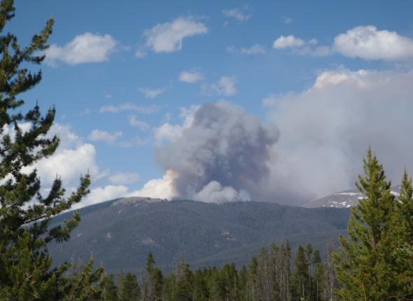 Big Meadows Fire - Shadow Lake area Colorado  2013