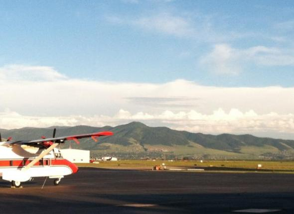Sunset at the Smokejumper base
