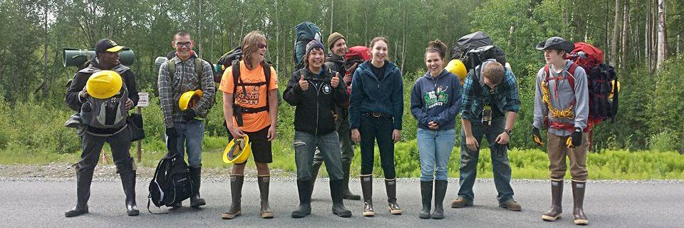 The Student Conservation Association runs crews for Alaskans age 15-19 every Summer