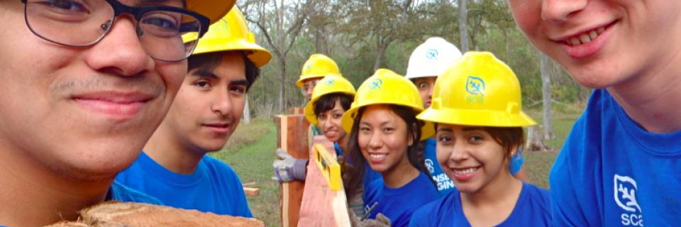 High School Students join a Student Conservation Association Community Crew for service in the Houston, Texas area.