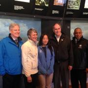 (left to right: American Express VP for Corporate Social Responsibility Tim McClimon, Secretary of the Interior Sally Jewell, SCA Alum Jane Chan, YMCA President Neil Nickel, NYC Parks Commissioner Mitchell Silver)