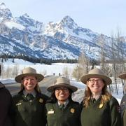 Park Ranger and SCA Alum Millie Jimenez with her colleagues