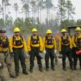 SCA Veterans Fire Corps team at a prescribed burn in Florida, 2015