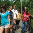 Conservation day: Sardis hike. Left to right: Amanda, Sophie, Brendan, John, Keith and Nakeda.