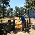 DURING Hickory Ridge playground revitalization at Enid Lake