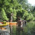 Staff and volunteers on the San Marcos River