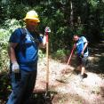 Donovan Slough trail restoration at the Natchez Trace Parkway. John and Nakeda