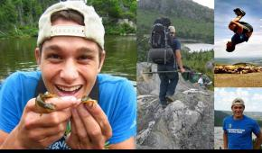 SCA member Jeremy Taitano engaged in various outdoor and conservation-related activities: surveying salamanders, doing a back-flip, hiking. The North Face chose to honor Jeremy in their NEVER STOP campaign because of his relentless commitment to realizing a world where conservation is a priority for everyone.