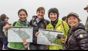 Jean Bartholomew, second from left, leads a community hike with Golden Gate National Parks Conservancy.
